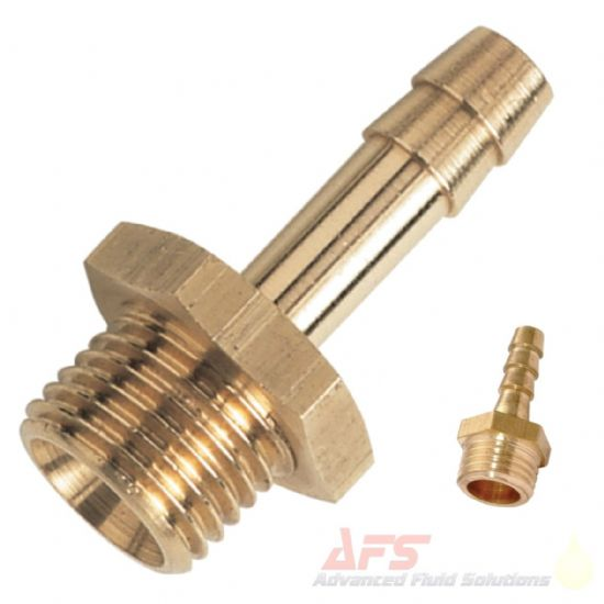 BRASS Male Metric x Barbed Hose Tail Fittings
